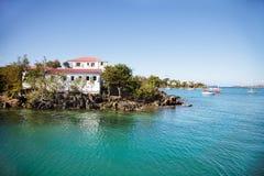 Isla en la bahía de Cruz Fotografía de archivo