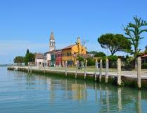 Isla en la laguna de Venecia Foto de archivo