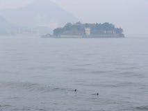 Isla en la niebla Fotos de archivo