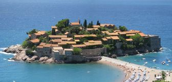 Isla en Montenegro Foto de archivo