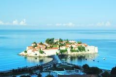 Isla en Montenegro Foto de archivo libre de regalías