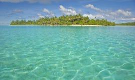 Isla en South Pacific Imagen de archivo libre de regalías