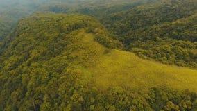 Isla Filipinas de Camiguin de la selva tropical de la tarde de la visión aérea almacen de metraje de vídeo