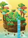 Isla flotante Imágenes de archivo libres de regalías