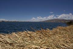 Isla flotante de Uros Imagenes de archivo