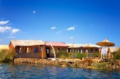 Isla flotante de Uros Imagen de archivo