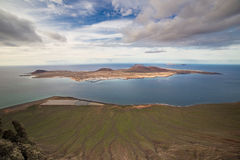 Isla Graciosa, in Lanzarote, Canary Islands, Spain. Royalty Free Stock Images