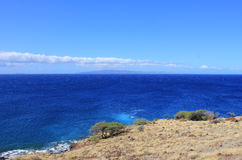 Isla grande de Hawaii de la costa costa Imagenes de archivo