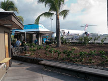 Isla grande Hawaii de Kona del aeropuerto comercial del aire abierto Imagen de archivo
