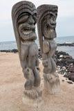 Isla grande Hawaii de la PU \ 'del uhonua O Honaunau Fotos de archivo libres de regalías