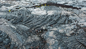 Isla grande Hawaii de lava del kilauea viejo del flujo Fotografía de archivo