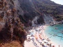 Isla Grecia de Agiofillis Lefkas Fotografía de archivo