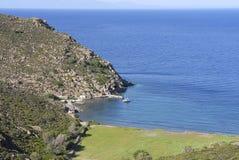 Isla Grecia de Patmos Foto de archivo libre de regalías