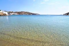 Isla Grecia de Sifnos de la playa de Faros Fotografía de archivo libre de regalías