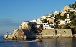 Isla Grecia de Ydra Fotos de archivo