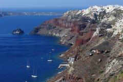 Isla griega Santorini Imágenes de archivo libres de regalías