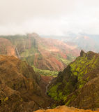 Isla Hawaii de Kauai del barranco de Waimea Fotografía de archivo libre de regalías
