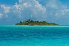 Isla hermosa con las palmas Imagenes de archivo