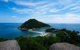 Isla hermosa de Nangyuan de la isla, Tailandia, vacaciones de verano Fotos de archivo