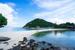Isla hermosa de Nangyuan de la isla, Tailandia, vacaciones de verano Imágenes de archivo libres de regalías