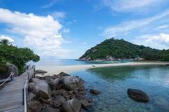 Isla hermosa de Nangyuan de la isla, Tailandia, vacaciones de verano Imagenes de archivo