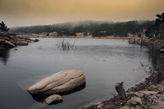 Isla Ikaria del lago Pezi Fotografía de archivo libre de regalías