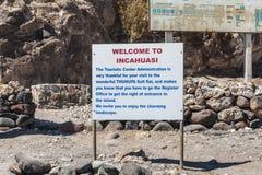 Isla Incahuasi -Isla del Pescado- in the middle of the world`s biggest salt plain Salar de Uyuni, Bolivia Stock Photo
