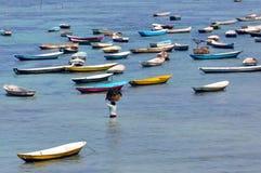 Isla indonesia de Nusa Lembongan del granjero de la alga marina Imágenes de archivo libres de regalías