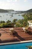 Isla inglesa el Caribe de Antigua del puerto de la visión imagen de archivo libre de regalías