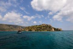Isla inminente de Spinalonga Fotografía de archivo libre de regalías