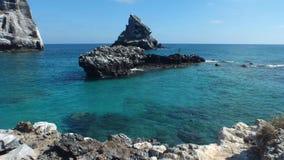Isla Isabel che un'isola vulcanica 15 miglia fuori da Mexico's Riviera Nayarit costeggia Fotografia Stock