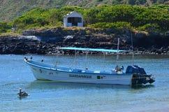 Isla Isabel che un'isola vulcanica 15 miglia fuori da Mexico's Riviera Nayarit costeggia Immagine Stock