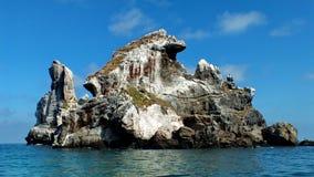 Isla Isabel, die eine Vulkaninsel 15 Meilen weg von Mexico's Riviera Nayarit die Küste entlangfahren stockfotos