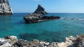 Isla Isabel que uma ilha vulcânica 15 milhas fora de Mexico's Riviera Nayarit costeia Foto de Stock