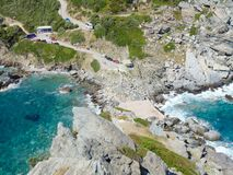Isla Kastri de Skopelos Imagen de archivo