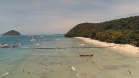 Isla KO-HE en Tailandia, tirando de un quadrocopter Foto de archivo libre de regalías
