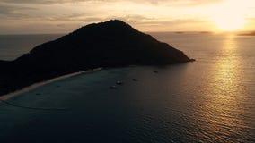 Isla KO-HE en Tailandia, tirando de un quadrocopter Fotografía de archivo
