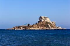 Isla Kos de Kastri Foto de archivo libre de regalías