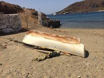 Isla Kythnos un lugar a viajar allí Imagenes de archivo