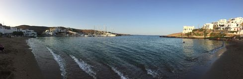 Isla Kythnos un lugar a viajar allí Foto de archivo libre de regalías
