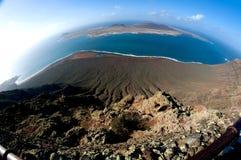 Isla la Graciosa - Lanzarote, Canarian Islands. Mirador del Rio Isla la Graciosa view - Lanzarote, Canarian Islands Stock Photography