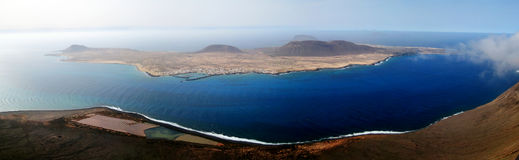 Isla La Graciosa. Panorama of La Graciosa island (Tenerife, Canary islands, Spain Royalty Free Stock Photography