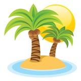 Isla linda ilustración del vector