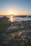 Isla llameante Fotografía de archivo libre de regalías