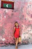 Isla local en Maldivas Imágenes de archivo libres de regalías