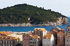 Isla Lokrum de Dubrovnik Croatia Foto de archivo
