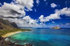 Isla Makapuu Hawaii del conejo Fotografía de archivo libre de regalías