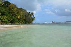 Isla Mamey in Panama in the Caribbean Sea. The paradise like Isla Mamey, a tiny little tropical island located in the caribbean sea in the province of Colon in stock image