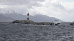 Isla Martillo, Brakkanaal Ushuaia Patagonië Tierra del Fuego Argentina royalty-vrije stock foto