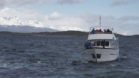 Isla Martillo, Patagonia Tierra del Fuego Argentina de Ushuaia do canal do lebreiro fotografia de stock royalty free